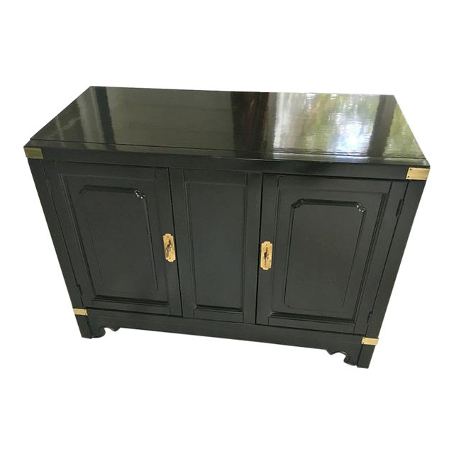 American of Martinsville Asian Style Black Lacquered Buffet - Image 1 of 5