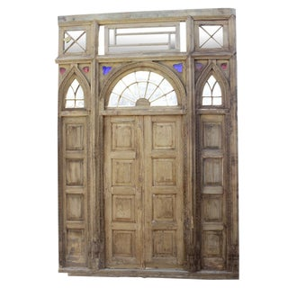 Impressive 1800's Indo Portuguese Door For Sale