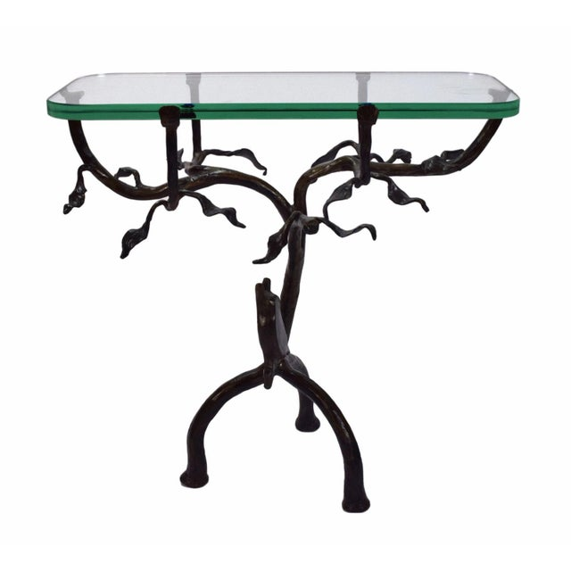Vintage Twig and Owl Bronze Patinated Iron Table For Sale - Image 4 of 9