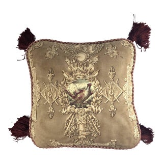 Custom Made Maitland Smith Throw Tassel Pillow For Sale