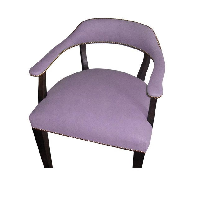 """Purple Custom to Order """"The Color Hues"""" Collection Leather Chair For Sale - Image 8 of 9"""