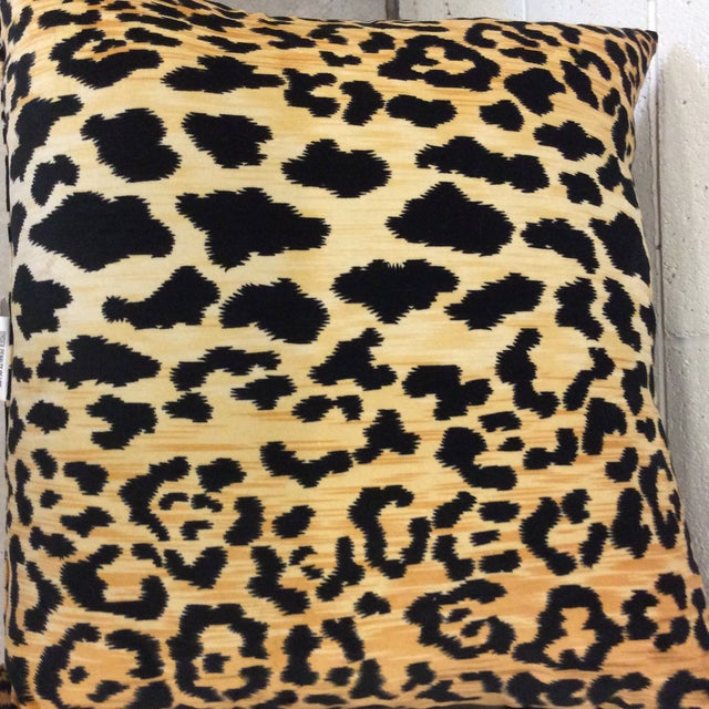 Velvet Leopard Print Pillows - A Pair For Sale In Richmond - Image 6 of 8