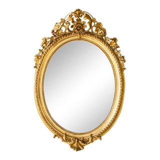 Napoleon III Glit Flower and Leaf Mirror For Sale
