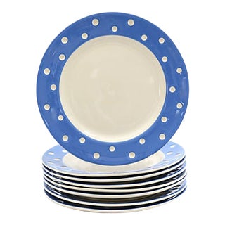 T. G. Green Polka Dot Plates - Set of 8 For Sale