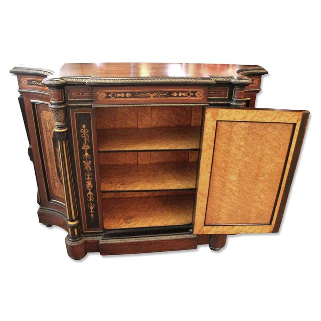 19th Century Renaissance Rosewood Bronze Mounted Credenza For Sale In New York - Image 6 of 10