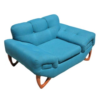 Mid-Century Modern Lounge Chair in the Manner of Adrian Pearsall For Sale