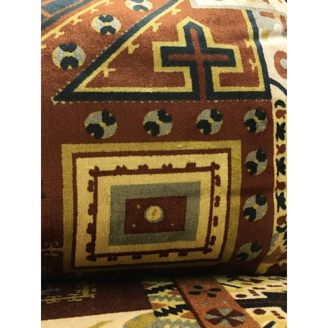 Late 20th Century Midcentury Loveseat in Jack Larsen Style Cotton Felt For Sale - Image 5 of 10