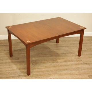 Stickley Mission Collection Cherry Inlaid Harvey Ellis Dining Table (A) Preview
