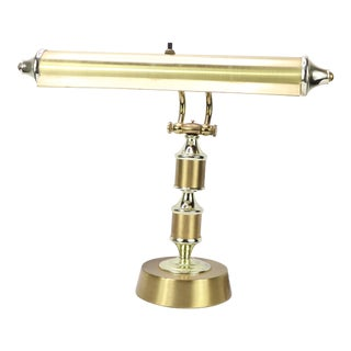 Vintage 1960s Mid-Century Modern Brass Bankers Desk Lamp For Sale