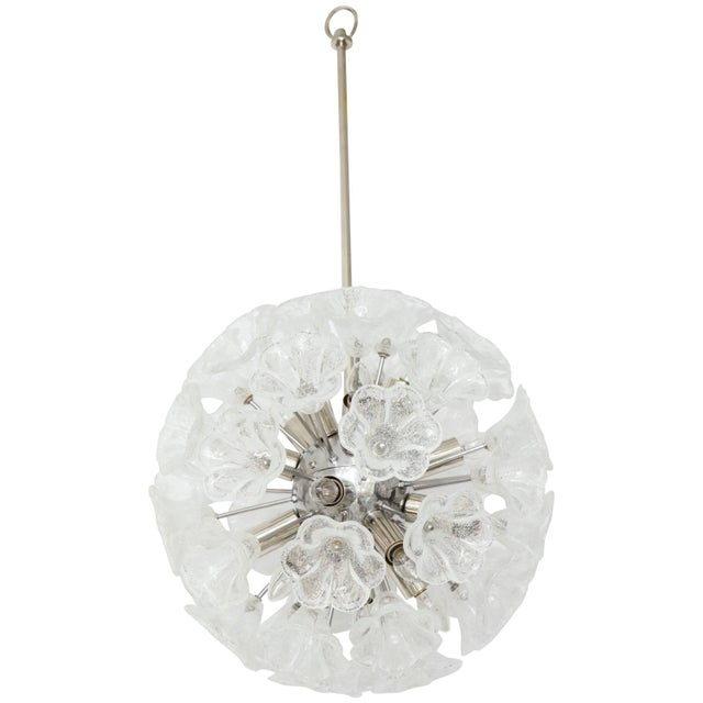 Italian Floral Glass Sputnik Chandelier For Sale - Image 11 of 11