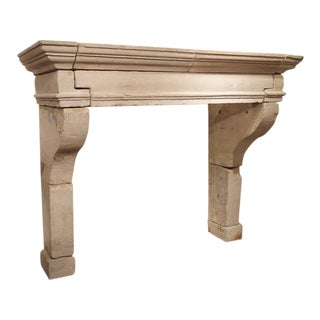 Antique Louis XIII Style Limestone Fireplace Mantel From the Loire Valley For Sale