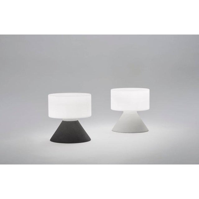 2010s Samuli Naamanka for Innolux Oy 'Concrete' Table Lamp in Dark Gray For Sale - Image 5 of 10