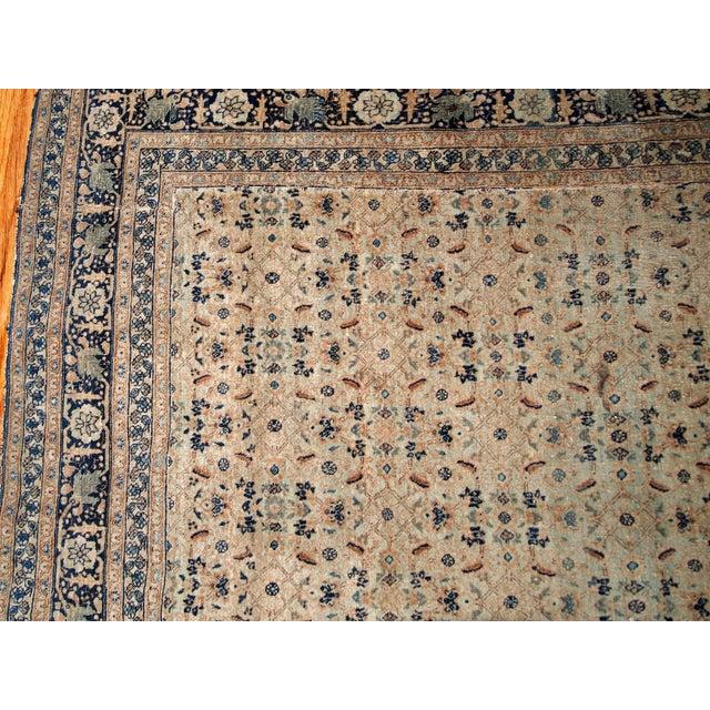 1880s Handmade Antique Persian Tabriz Hajalili Rug 4.2' X 6.5' For Sale In New York - Image 6 of 13