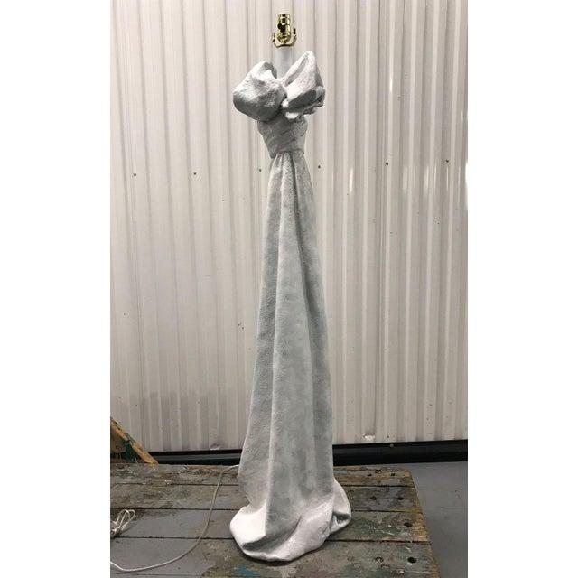 White John Dickinson Style Plaster Floor Lamp For Sale - Image 8 of 12