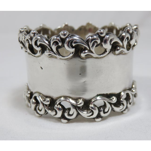 Towle Silversmiths Late 19th Century Antique Towle Silver Company Napkin Ring For Sale - Image 4 of 7