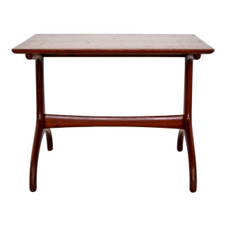 1950s Mid-Century Modern Heritage Henredon Horn Leg Side Table For Sale