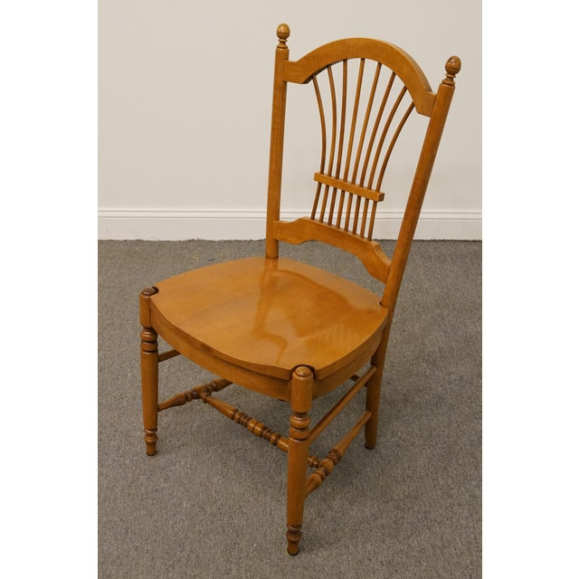 Ethan Allen Late 20th Century Vintage Ethan Allen Casual Dining Wheat Back Dining Side Chair For Sale - Image 4 of 10