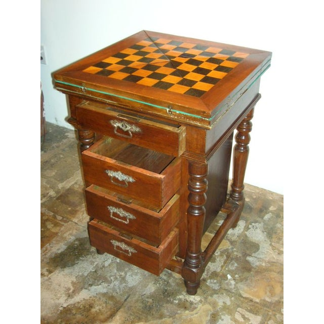 Antique English Game Table For Sale - Image 4 of 5
