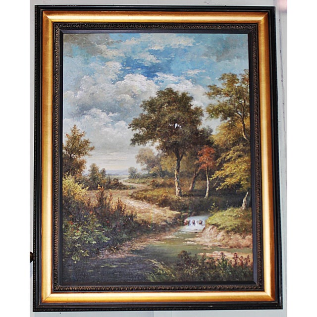 Large Country Stream Painting For Sale - Image 9 of 10