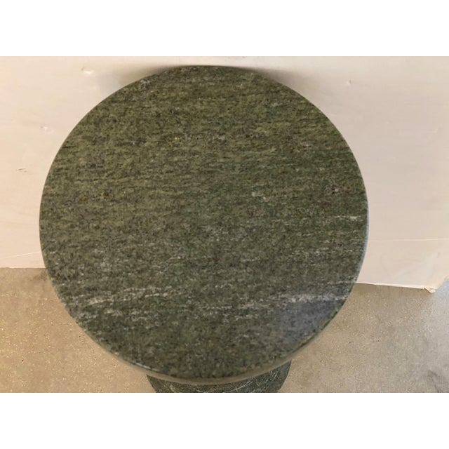 Vintage 1920s Neoclassic Pedestal Green Marble For Sale - Image 9 of 12
