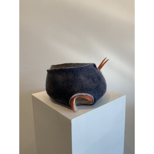 Abstract Wool Felt Sculpture For Sale - Image 13 of 13