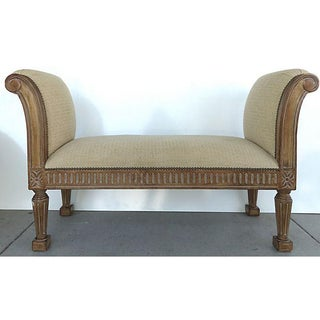 Upholstered Bench w/ Arms & Nail-heads Preview