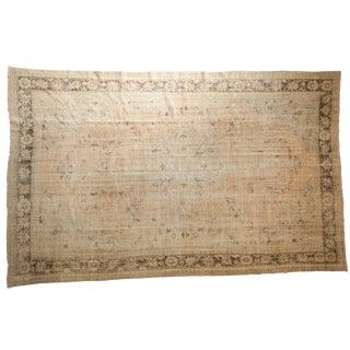"Vintage Distressed Oushak Carpet - 8'1"" X 12'6"" For Sale"