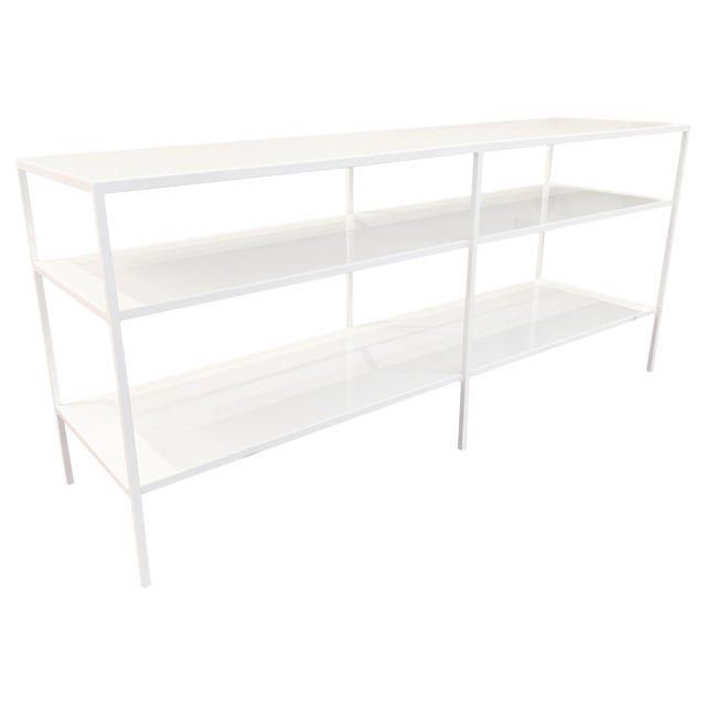 Room and Board Metal Shelving Unit For Sale