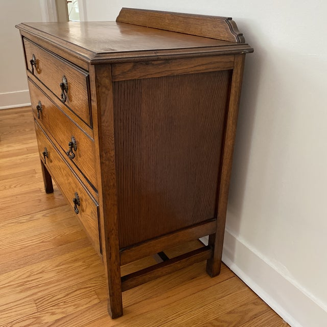 Wood Antique English Chest of Drawers For Sale - Image 7 of 12