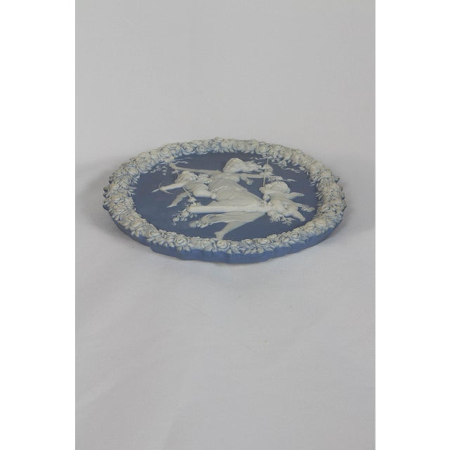 Traditional Oval Blue and White Jasperware Plaque For Sale - Image 4 of 7