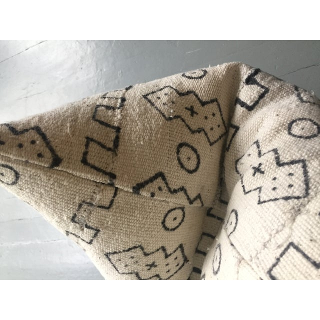 Boho Chic White African Mudcloth Pillow Cover - Image 6 of 10
