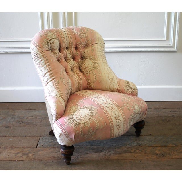 Mid 19th Century 19th Century Napoleon III Button Tufted Chair For Sale - Image 5 of 12