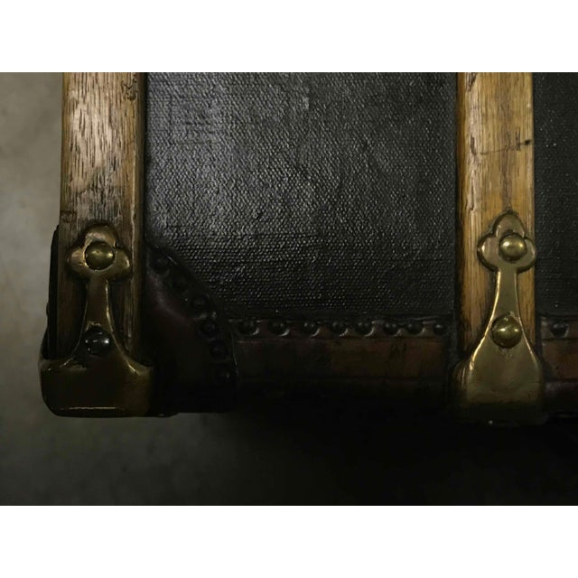 Late 19th Century Late 19th Century English Green Trunk Coffee Table For Sale - Image 5 of 6