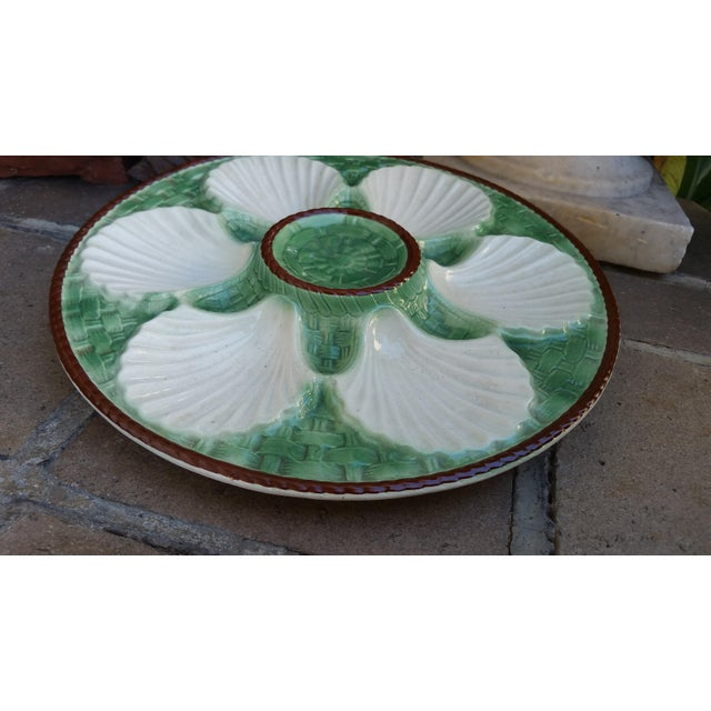 Majolica French Oyster Plates - Set of 6 - Image 3 of 5