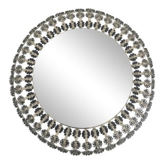 Floral Glass Backlit Illuminated Mirror Attributed to Emil Stejnar for Nikoll For Sale