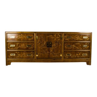 1970s Vintage Drexel Heritage Dynasty Collection Chinoiserie Credenza For Sale