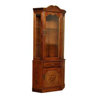 Habersham Vintage Paint Decorated Corner Cabinet For Sale