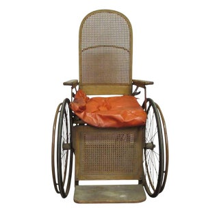 Turn of the Century Wooden Wheelchair For Sale