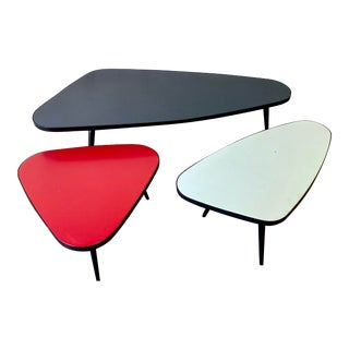 Mid Century Modern Trio of Coffee Tables For Sale