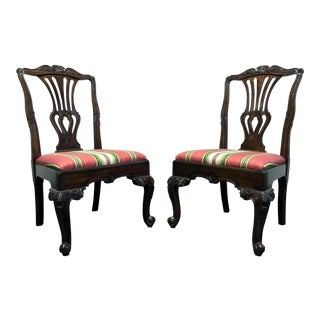 HEKMAN Marsala Oak French Country Dining Side Chairs - Pair 2
