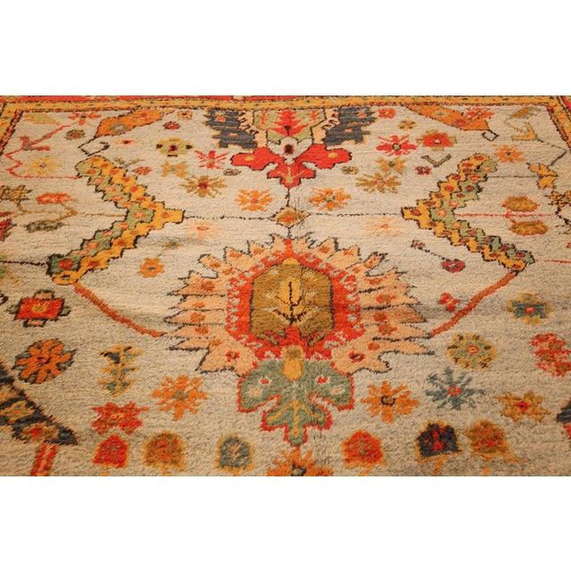 Textile Antique Turkish Arts & Crafts Oushak Rug - 8′4″ × 17′3″ For Sale - Image 7 of 11