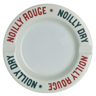 Vintage Noilly Rouge Ceramic Ashtray For Sale
