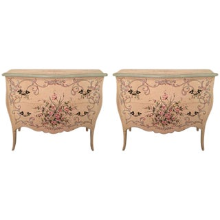 Italian Hand-Painted Italian Commodes - A Pair For Sale