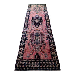 "1950's Vintage Turkish Runner Rug-3'2'x9'9"" For Sale"