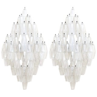 Carlo Scarpa Glass Sconces by Venini, A Pair For Sale