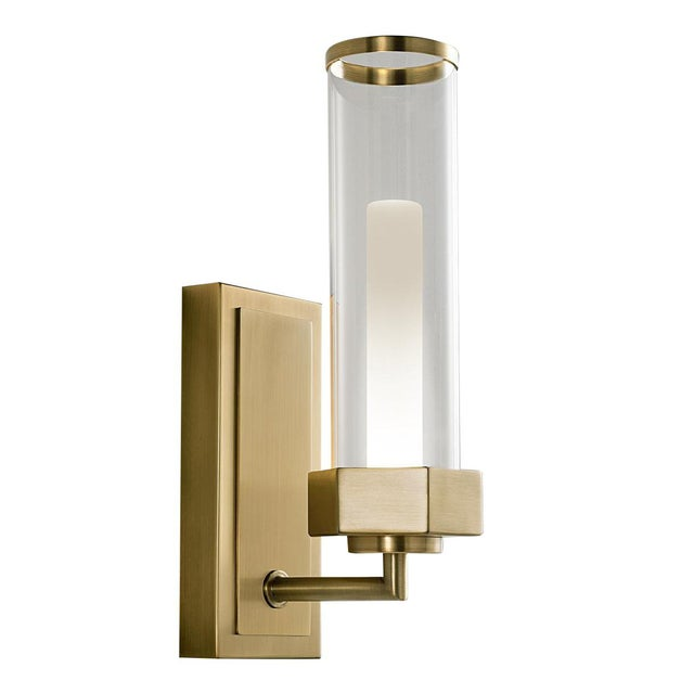 Mid-Century Modern English Brass Wall Light For Sale - Image 3 of 3