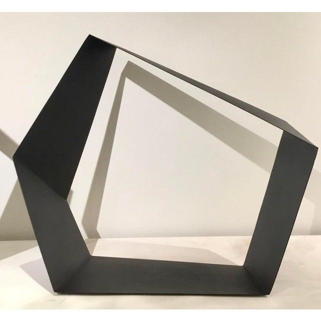 Metal Baker Modern Black Metal Geometric Sculpture For Sale - Image 7 of 7