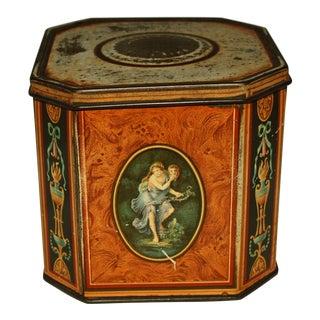 "1939 Huntley & Palmer ""Burl Wood"" Tin Box For Sale"