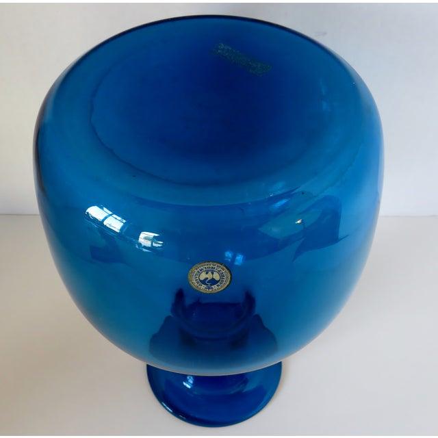 Danish Modern Kastrup Holmegaard Glass Vase For Sale - Image 3 of 5