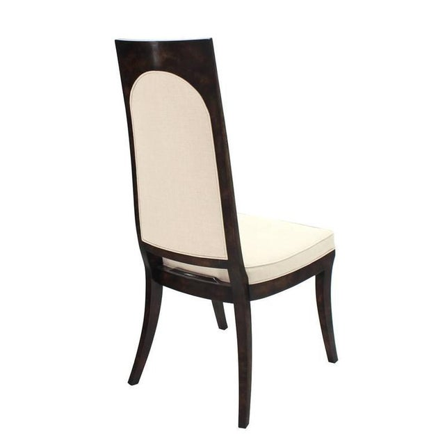 Set of Six Mid-Century Modern Mastercraft Dining Chairs With New Upholstery For Sale - Image 9 of 10